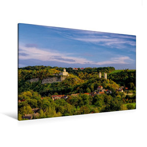 Premium Textil-Leinwand 120 cm x 80 cm quer Burg Saaleck und Rud