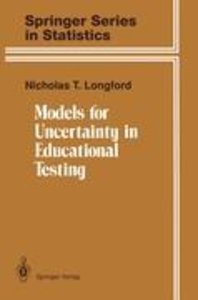 Models for Uncertainty in Educational Testing