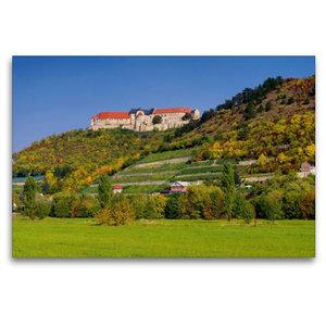 Premium Textil-Leinwand 120 cm x 80 cm quer Schloss Neuenburg