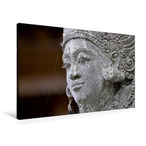Premium Textil-Leinwand 90 cm x 60 cm quer Statue in einem Tempe