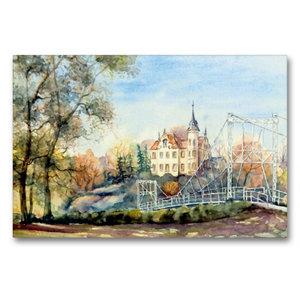 Premium Textil-Leinwand 90 cm x 60 cm quer Gattersburg