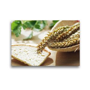 Premium Textil-Leinwand 45 cm x 30 cm quer Frisches Getreide zum