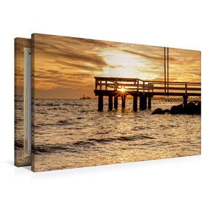 Premium Textil-Leinwand 90 cm x 60 cm quer Sonnenuntergang