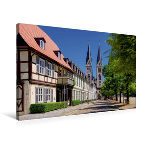 Premium Textil-Leinwand 75 cm x 50 cm quer Halberstadt