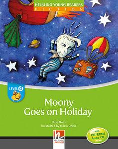 Moony Goes on Holiday, mit 1 CD-ROM/Audio-CD. Level d/4. Lernjah