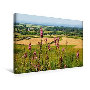 Premium Textil-Leinwand 45 cm x 30 cm quer Landschaft Südengland