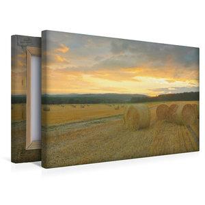 Premium Textil-Leinwand 45 cm x 30 cm quer Harmonie - Strohballe