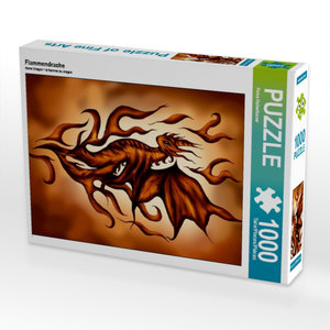 Flammendrache 1000 Teile Puzzle hoch