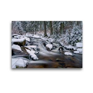Premium Textil-Leinwand 45 cm x 30 cm quer Bodewasserfall