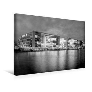 Premium Textil-Leinwand 45 cm x 30 cm quer Innenhafen bei Nacht