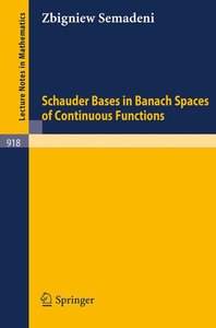 Schauder Bases in Banach Spaces of Continuous Functions