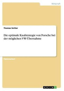Die optimale Kaufstrategie von Porsche bei der möglichen VW-Über