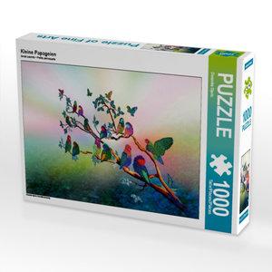 Kleine Papageien 1000 Teile Puzzle quer