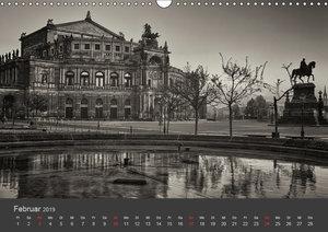 Dresden Schwarz Weiss 2019 (Wandkalender 2019 DIN A3 quer)