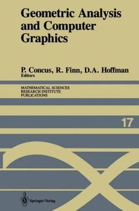 Geometric Analysis and Computer Graphics