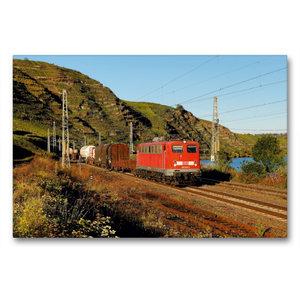 Premium Textil-Leinwand 90 cm x 60 cm quer 139 554 mit Güterzug