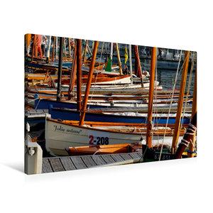 Premium Textil-Leinwand 90 cm x 60 cm quer Port von Vannes
