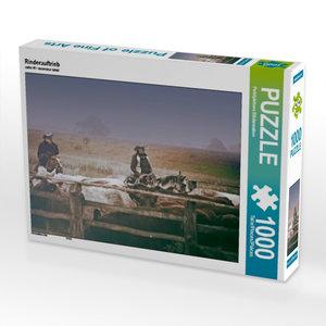 Rinderauftrieb 1000 Teile Puzzle quer