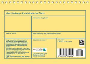 Mein Hamburg - Am schönsten bei Nacht (Tischkalender 2019 DIN A5
