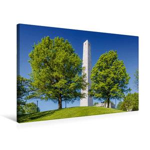 Premium Textil-Leinwand 75 cm x 50 cm quer BOSTON Bunker Hill Mo