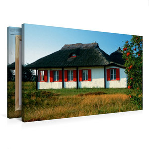 Premium Textil-Leinwand 75 cm x 50 cm quer Haus auf Hiddensee
