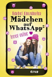 Mädchen auf WhatsApp - Immer online