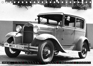 Ford AF Sedan 1930 in Monochrom (Tischkalender 2020 DIN A5 quer)