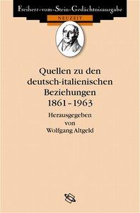 Quellen zu den deutsch-italienischen Beziehungen 1861-1963