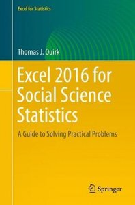 Excel 2016 for Social Science Statistics