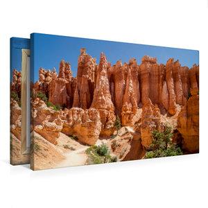 Premium Textil-Leinwand 75 cm x 50 cm quer UTAH Bryce Canyon Hoo