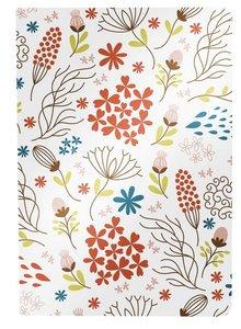 Besticktes Notizheft - Blumen