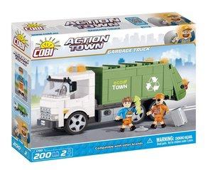 COBI 1780 - ACTION TOWN, Garbage, Müllwagen (grün) mit Zubehör,
