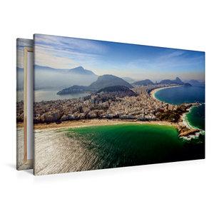 Premium Textil-Leinwand 120 cm x 80 cm quer Copacabana
