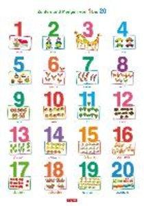 Lernposter. Zahlen und Mengen von 1 bis 20