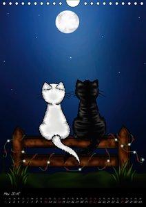 Niedliche Katzen (Wandkalender 2018 DIN A4 hoch)