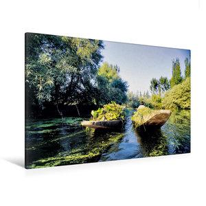 Premium Textil-Leinwand 120 cm x 80 cm quer Heimkehr vom Schwimm