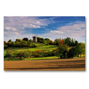 Premium Textil-Leinwand 90 cm x 60 cm quer Holländer-Windmühle E
