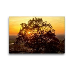 Premium Textil-Leinwand 45 cm x 30 cm quer Sonnenuntergang über
