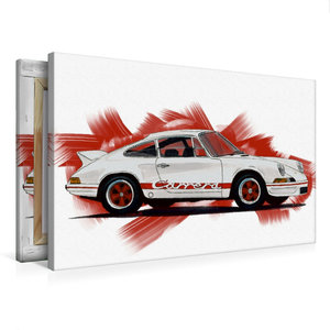 Premium Textil-Leinwand 75 cm x 50 cm quer Porsche 911 Carrera R