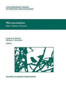 Microevolution Rate, Pattern, Process