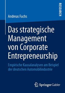 Das strategische Management von Corporate Entrepreneurship