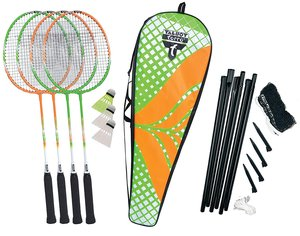 Talbot-Torro 449406 - Badminton-Set 4-Attacker Plus, Kolmplettse