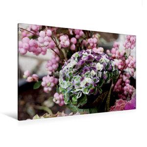Premium Textil-Leinwand 120 cm x 80 cm quer Hortensie
