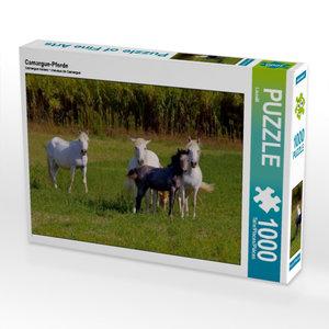Camargue-Pferde 1000 Teile Puzzle quer