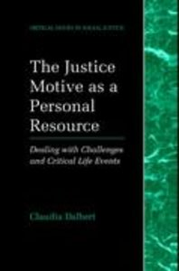 The Justice Motive as a Personal Resource