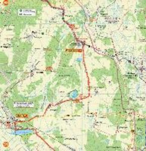 Radwander- und Wanderkarte mit Zick Zack Faltung Oder-Neiße-Radw