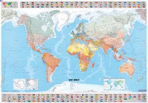 Michelin. Die Welt 1 : 28 500 000. Poster politisch
