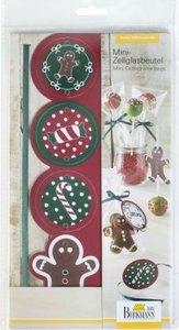 Mini-Geschenkbeutel mit Schleife & Grußetiketten, Candy Christma