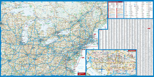 Northeast-USA 5. New York & the Great Lakes 1 : 3 000 000 + City