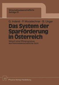 Das System der Sparförderung in Österreich